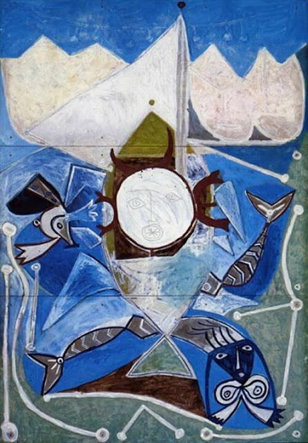 """""""Ulysse et les sirènes"""" Pablo Picasso, 1947"""