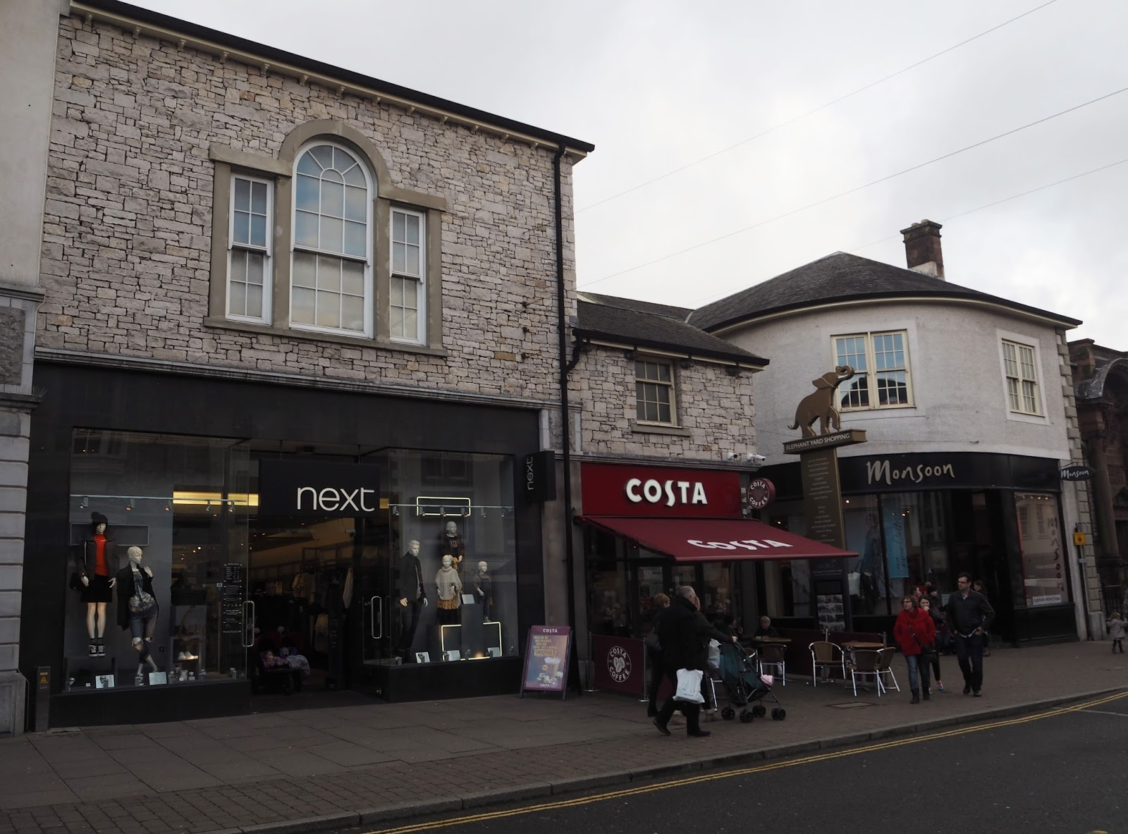 Next and Costa, Kendal