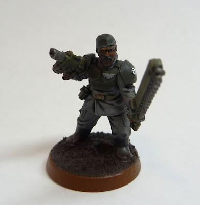 Astra Militarum infantry sergeant for Warhammer 40,000