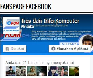 cara membuat like box fanspage di blog
