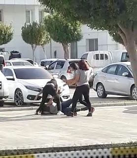 Antalya'da kızların Büyük Kavgası