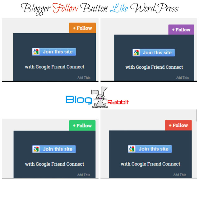 Blogger Follow Button Like WordPress