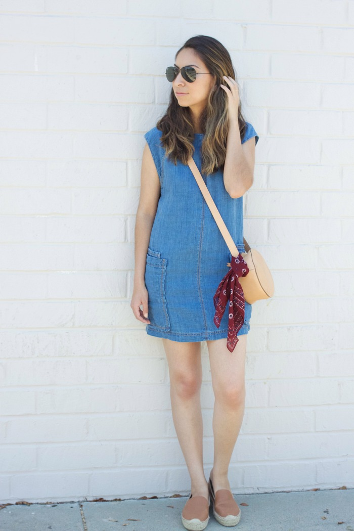 styling a denim dress