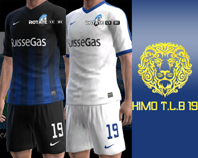 PES 2013 Atalanta B.C. Home & Away Kit 2016-17
