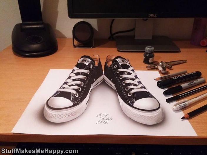 Wonderful 3D Illustration On Paper by Nikola Kulich