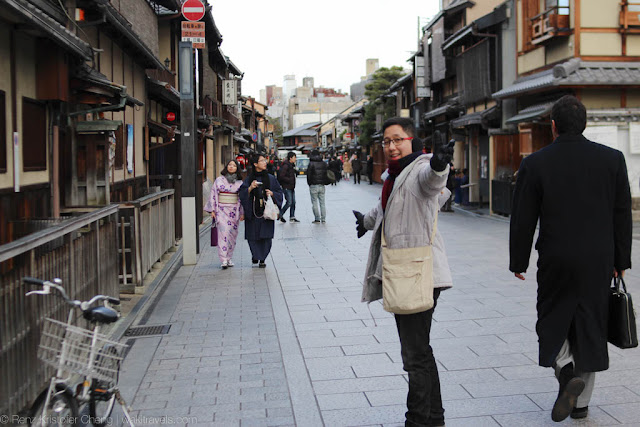 Renz Cheng in Higashiyama District of Kyoto, Japan