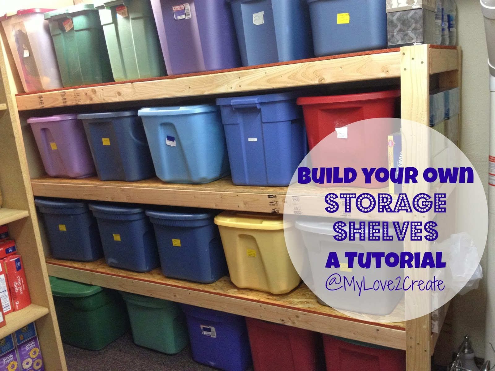 Storage Shelves A Tutorial My Love 2 Create