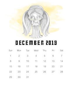 Calendario 2019 de Dr. Who para Imprimir Gratis.