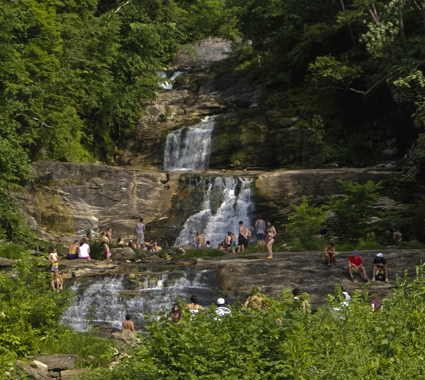 swimming hole kent falls waterfall