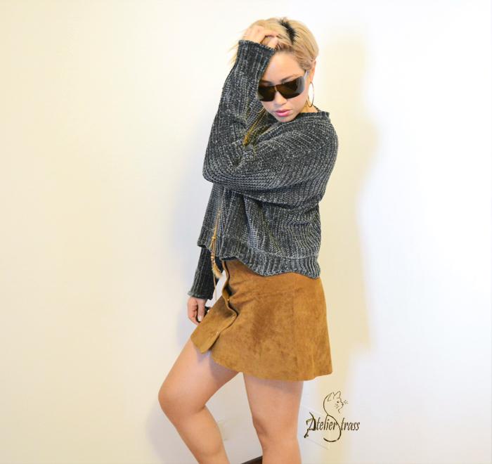 mini falda con jersey zara