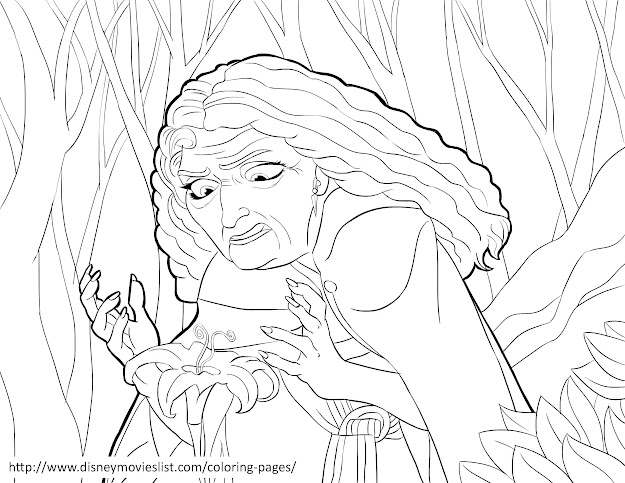 Tangled Rapunzel Coloring Pages For Kids An