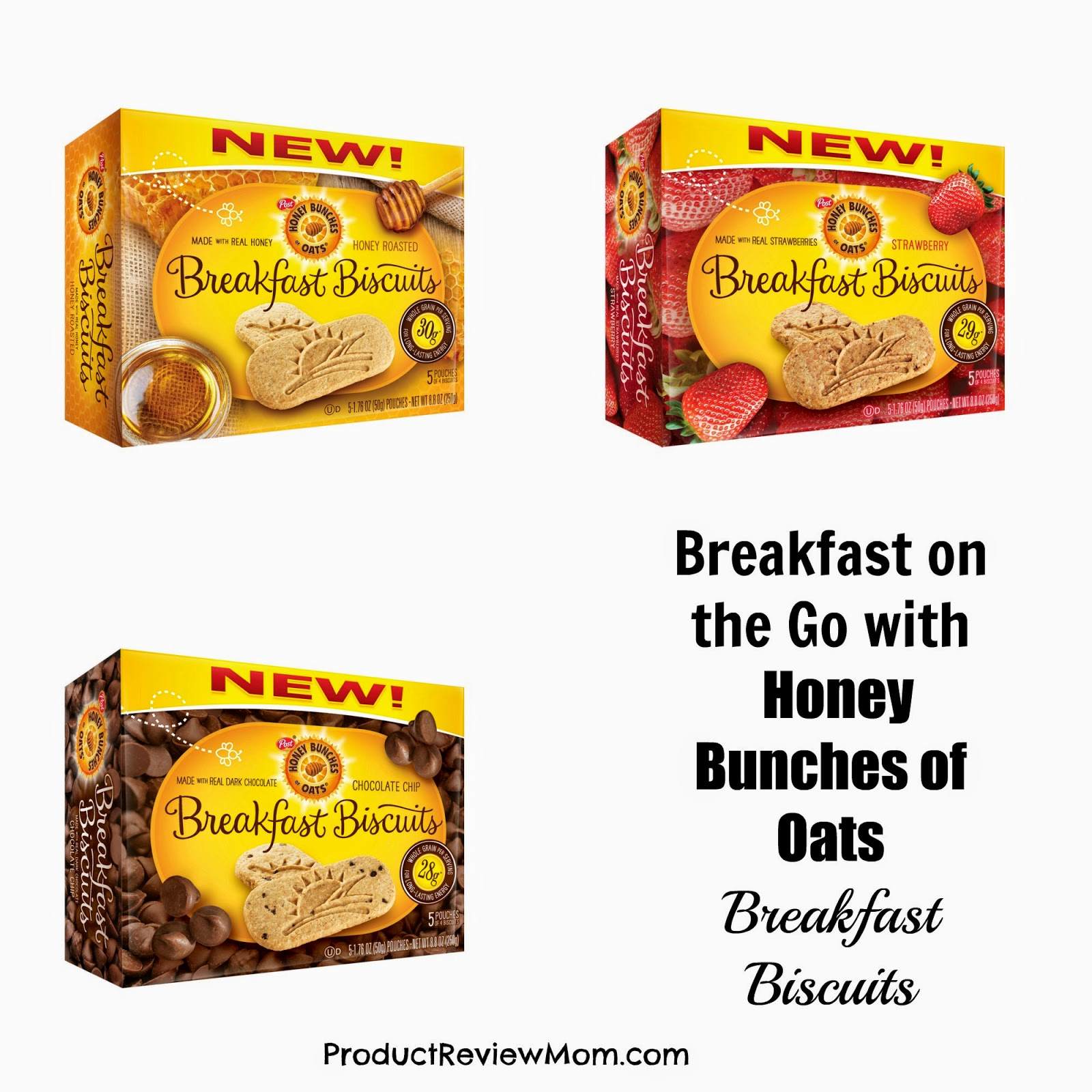 Breakfast on the Go with Honey Bunches of Oats Breakfast Biscuits @HBOats #HBOatsBiscuits #ad  via www.productreviewmom.com
