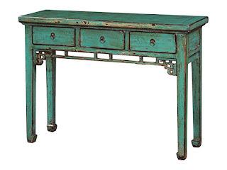 Consola Oriental Azul 3 Cajones Bants