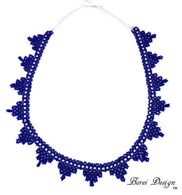 How to make a seed bead lace banner necklace tutorial with free pattern