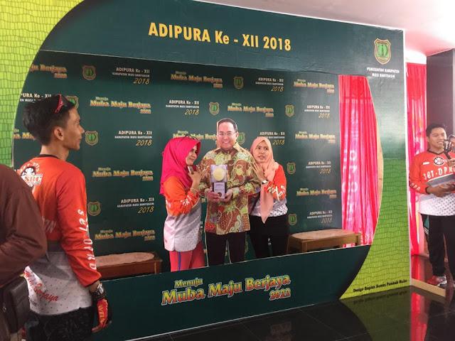 Adipura Kembali ke Muba, Photo Booth Bupati Muba Digandrungi Warga