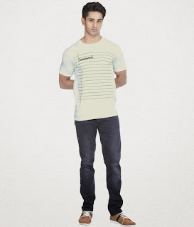 Zovi Notebook White Graphic T-Shirt Rs.399 + Extra 5% Off