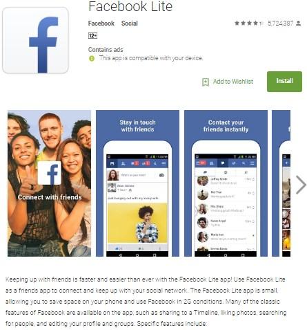 install facebook lite