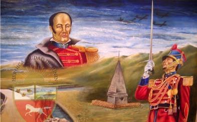 Dibujo de Batalla de Junín a colores