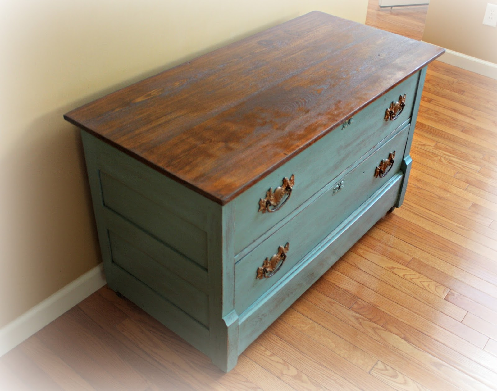 rustic antique dresser painted in provence blue