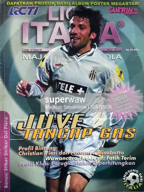ALESSANDRO DEL PIERO JUVENTUS 2001 FOOTBALL MAGAZINE