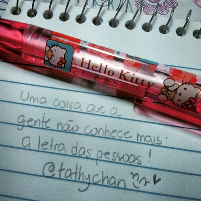 Essa é a minha letra. E a sua? :)