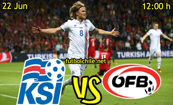 VER STREAM RESULTADO EN VIVO, ONLINE: Islandia vs Austria