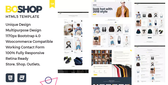 commerce template that is designed for commercial exercise such equally vesture BoShop – Multipurpose eCommerce HTML5 Template Download