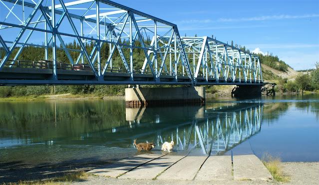 Bridge across Yukon River in Yukon Territory Canada