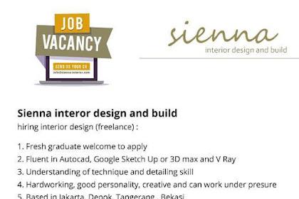 Info Lowongan Kerja Desain Visual Grafis Sienna Interior Jatabek