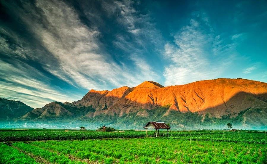 Desa Sembalun Lawang ketinggian 1200 meter - Taman Nasional Gunung Rinjani