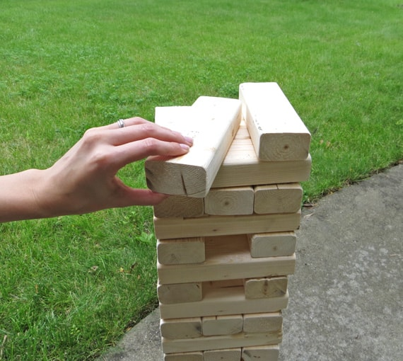 Life size jenga - how to make a DIY giant jenga game
