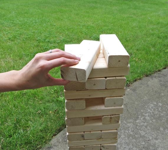 Life Size Jenga >> How To Make A Giant Jenga Yard Game Creative Green Living