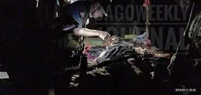 သမီးေယာက္ဖခ်င္း စကားမ်ားရန္ျဖစ္ရာမွ ရဲဒင္းျဖင့္ခုတ္လိုက္ရာ အမျဖစ္သူ၏ ေယာက်္ားပြဲခ်င္းၿပီးေသဆံုး