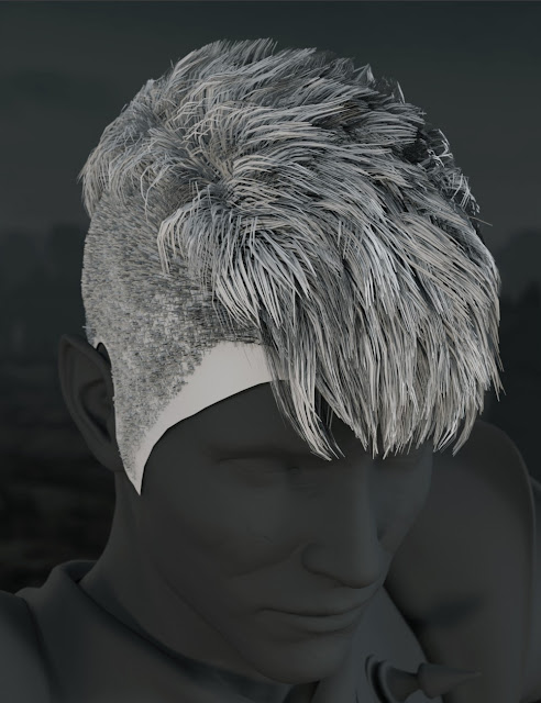 Asher Hair for Genesis 3 Male