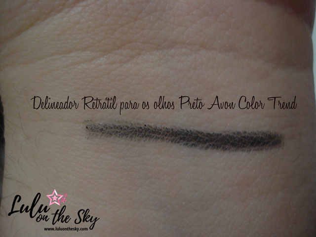 Delineador Retrátil para os olhos preto Avon Color Trend - blog Lulu on the sky
