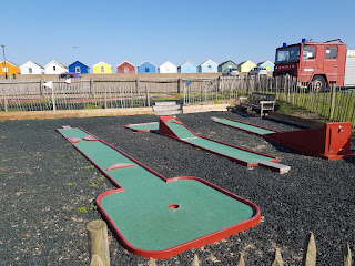 Crazy Golf course at the Boating Lake in Southwold, Suffolk