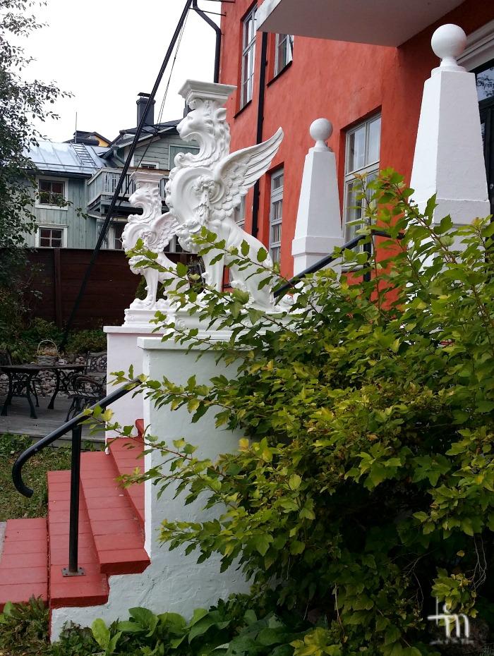 Sisäpiha Porvoon vanhassa kaupungissa