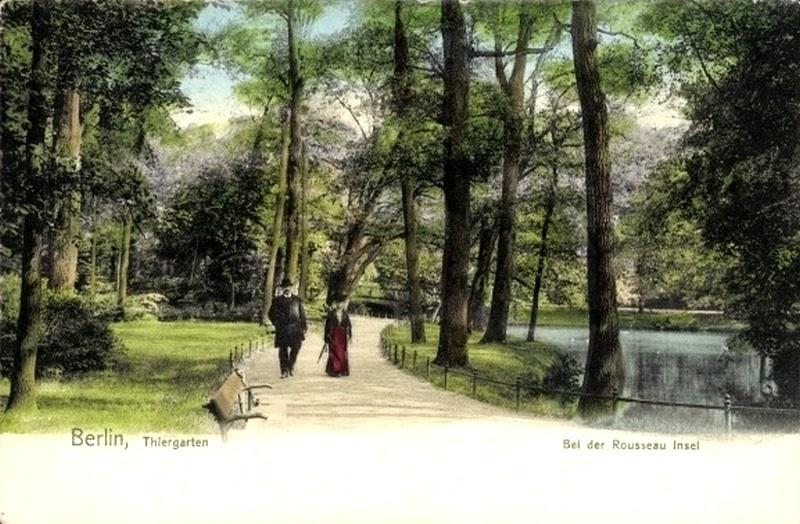 Spaziergang durch den Tiergarten nahe der Rousseau-Insel