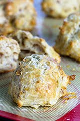 Cheddar-Walnut Gougères with Shaved Parmesan and Maldon Sea Salt Topping (GF)