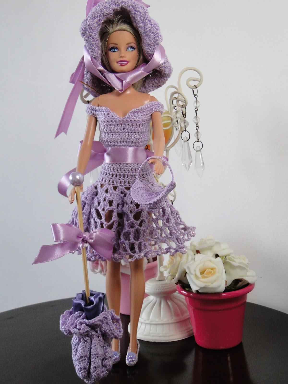 Passeio no campo - roupa de crochê para Barbie por Pecunia MillioM