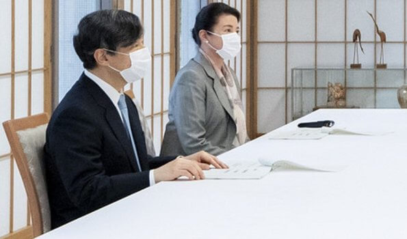 Emperor Naruhito and Empress Masako received information from Yumiko Watanabe and Yasuo Otani on coronavirus pandemic  impact on childcare