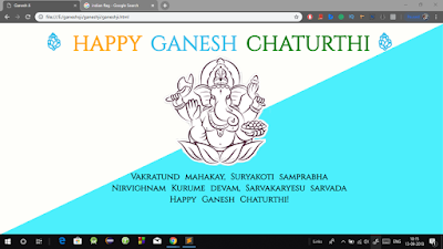 Create Ganesh Chaturthi Wishing Website using HTML and CSS