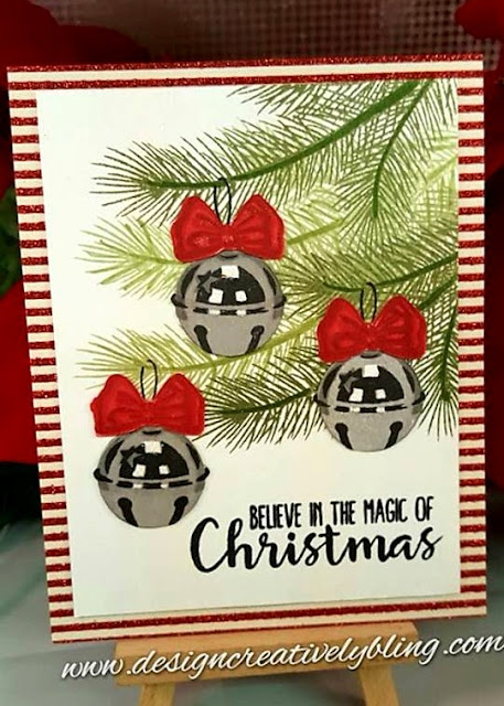 Sunny Studio Stamps: Holiday Style Jingle Bell Card by Deana Benson