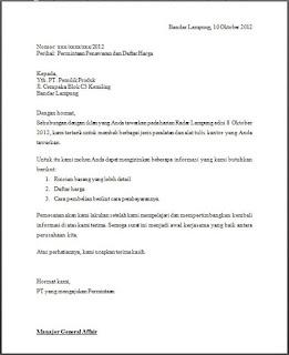pengertian surat permintaan penawaran