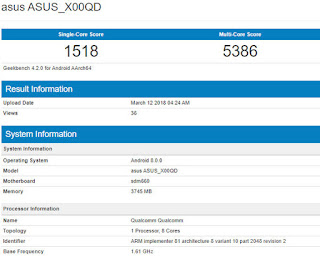 Asus ZenFone 5 max geekbench listings
