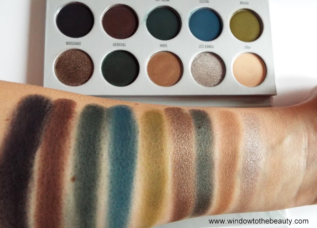 Morphe & Jaclyn Hill  Dark Magic swatche