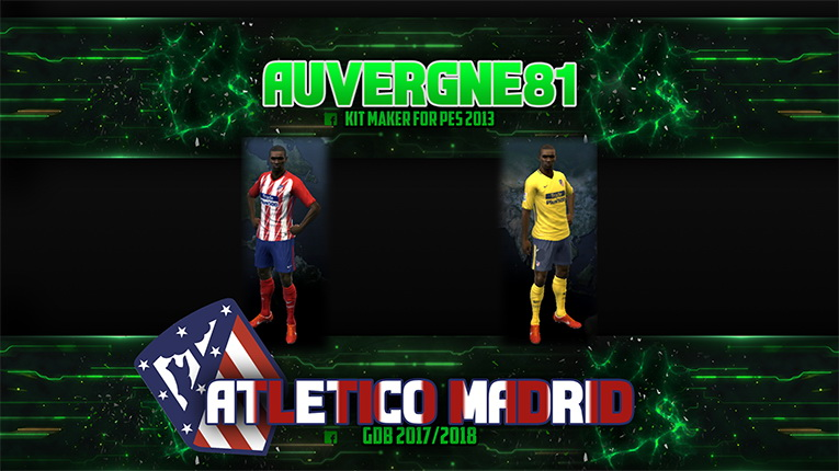 PES 2013 Atletico Madrid GDB home and away by Auvergne81