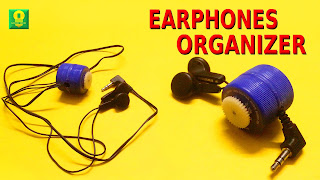 Cara Membuat Earphone Organizer (Tempat Earphone)