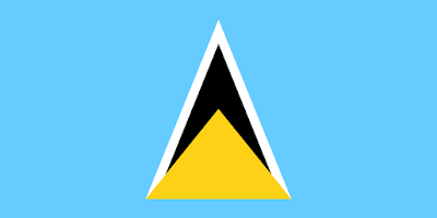 Logo Gambar Bendera Negara Saint Lucia PNG JPG ukuran 400 px