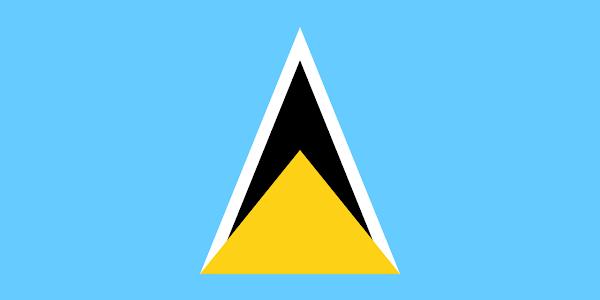 Logo Gambar Bendera Negara Saint Lucia PNG JPG ukuran 600 px